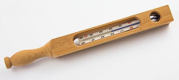 Therapeuten Badethermometer aus Glas
